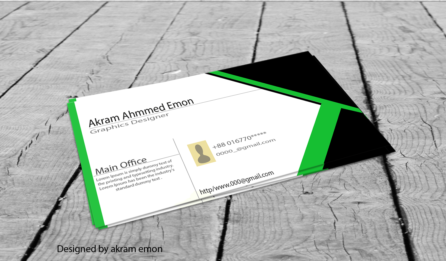 Corporate business card .. design at fiverr akramemon58 | Business ...
