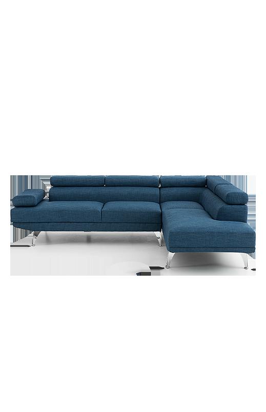 Image Pour Sofa Sectionnel En Lin Bleu à Partir De Economax