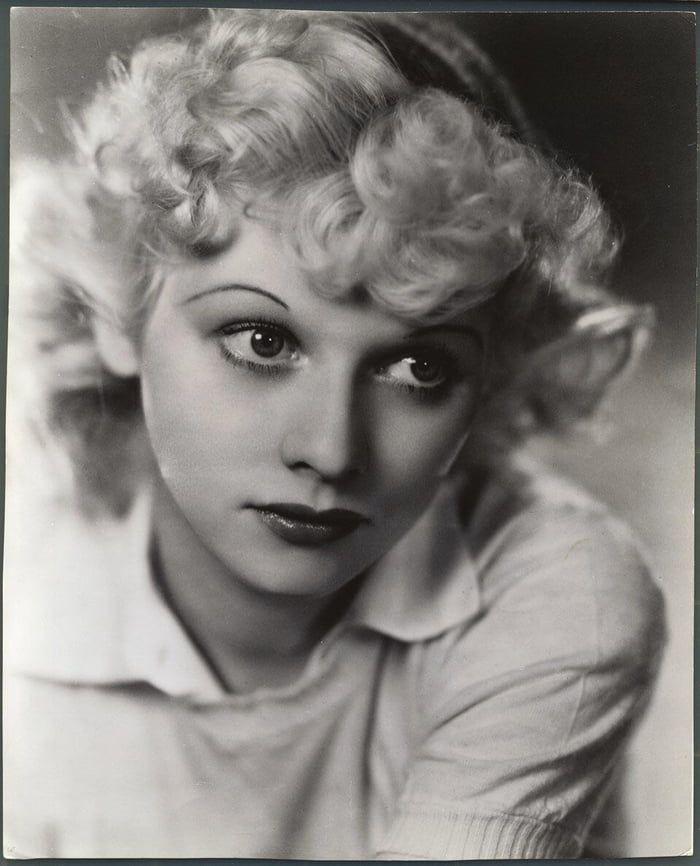 A blond Lucille Ball, 1933