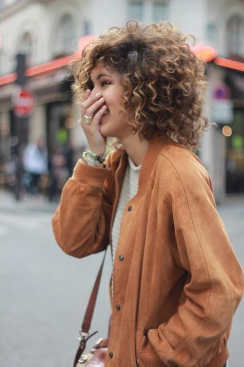 bouncy curly hair