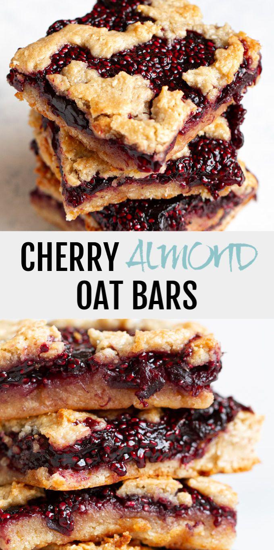 Cherry Almond Oat Bars {gluten-free, vegan}