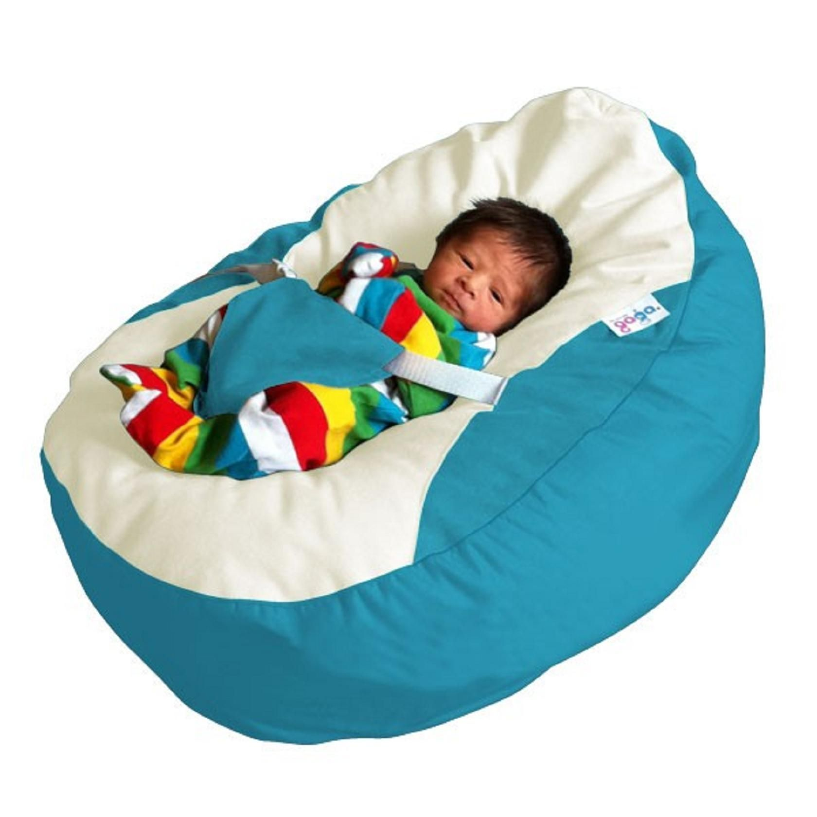 Magnificent Gaga Pre Filled Teal Luxury Cuddle Soft Baby Bean Bag With Pabps2019 Chair Design Images Pabps2019Com