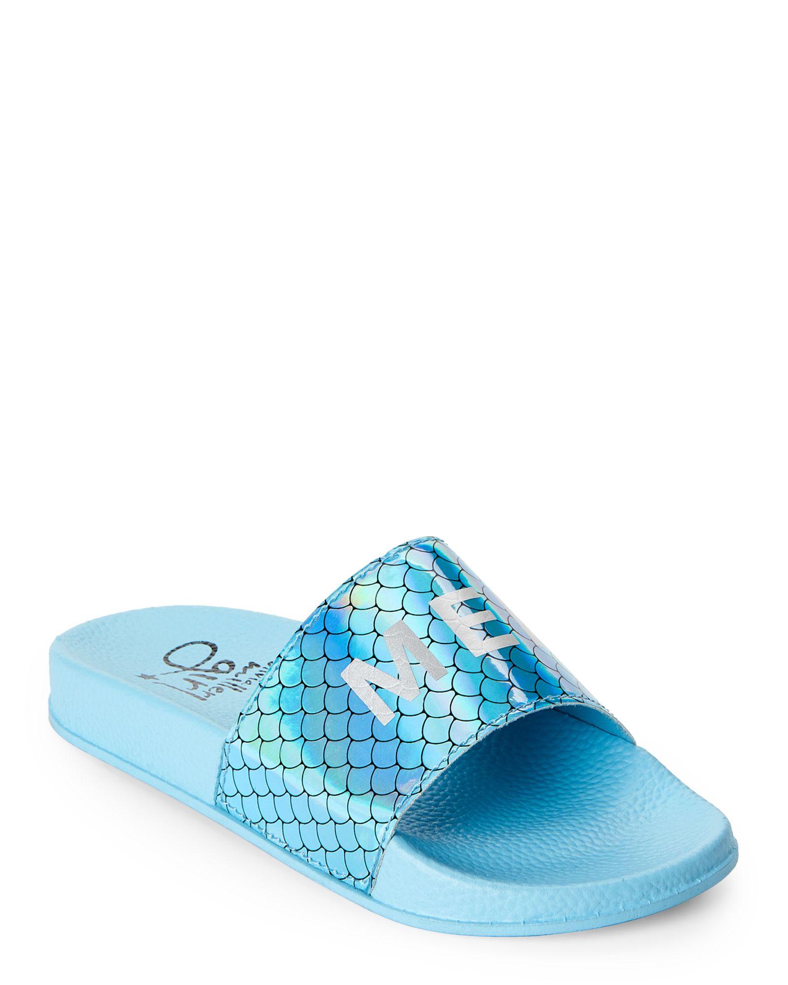 bd7445a437dd9 Olivia Miller Girl (Kids Girls) Blue Mermaid Slide Sandals ...