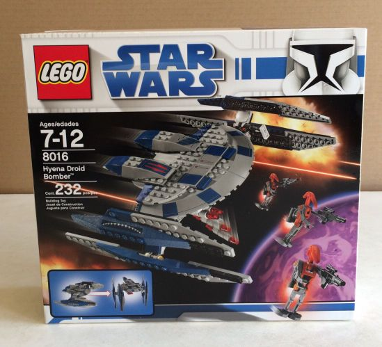 Lego Set 8016 Hyena Droid Bomber Sealed In Box New K Common