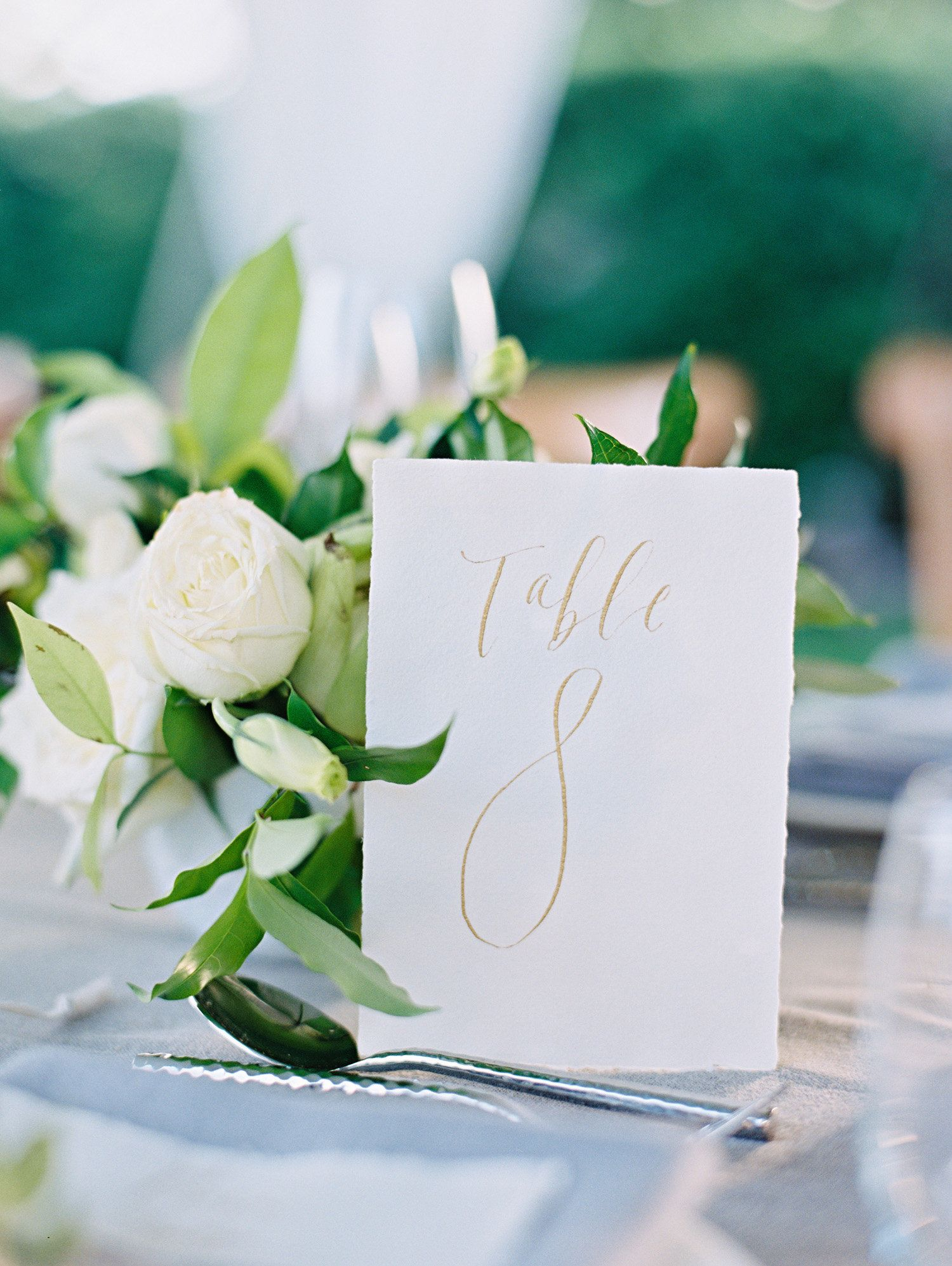 Simple wedding decoration designs  Simple Calligraphy Table Numbers  Gold Weddings  Destination