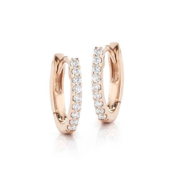 """Dana Rebecca """"DDR"""" Diamond Huggies in Rose Gold"""