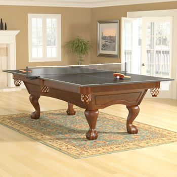 Allenton Billiard Table With Table Tennis Conversion Top Contender Series  By Brunswick