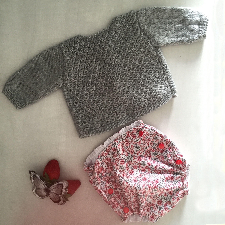 Diy jersey de bebe a tricot y tutorial de como hacer punto - Puntos para calcetar ...