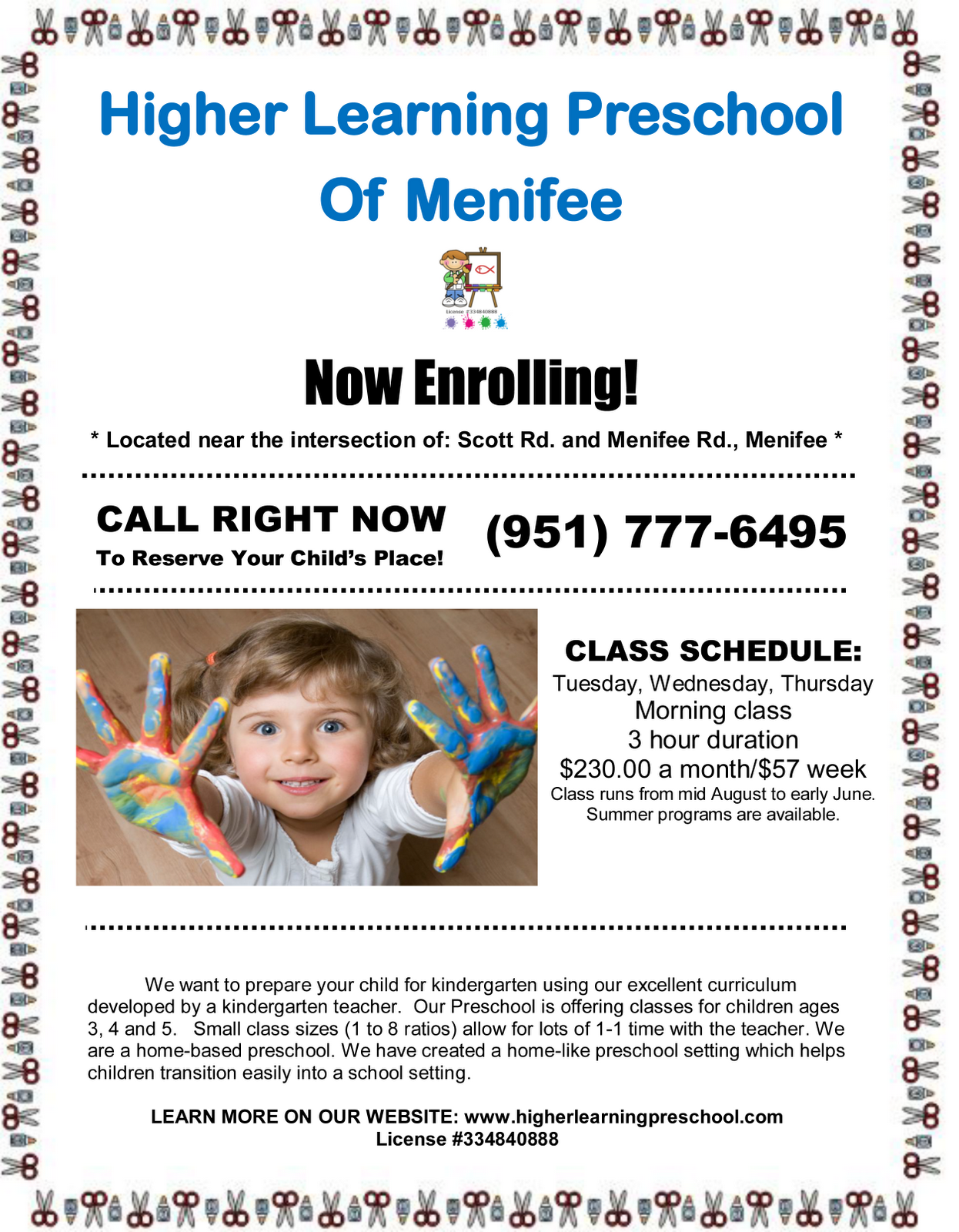 I Made This Flyer I Used Microsoft Wrod Menifee 24 7