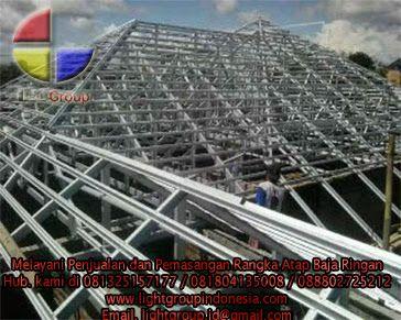 Gambar Rangka Atap Baja Ringan Limasan Light Group Indonesia Lightruss Fair
