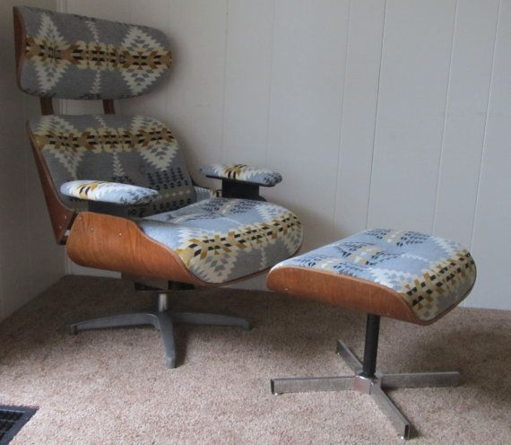 Eames Style Lounge Chair And Ottoman In Pendleton Wool   If Only It Wasnu0027t  $1500 Plus $200 For Shipping.