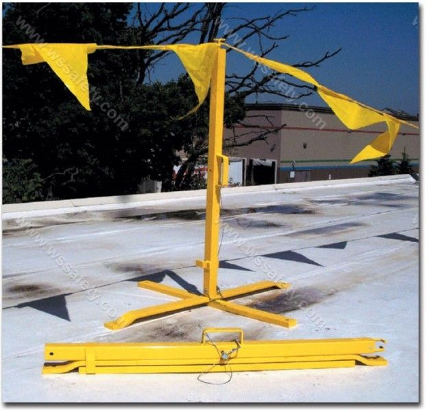 Kwik Stand Portable Warning Flags Rooftop Guardrails Corrugated Metal Roof Corrugated Metal Kwik