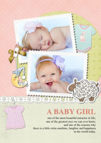 A baby girl's coming is one of the most beautiful miracles in life. Can not wait to make your own #babycard  for the greatest joy?