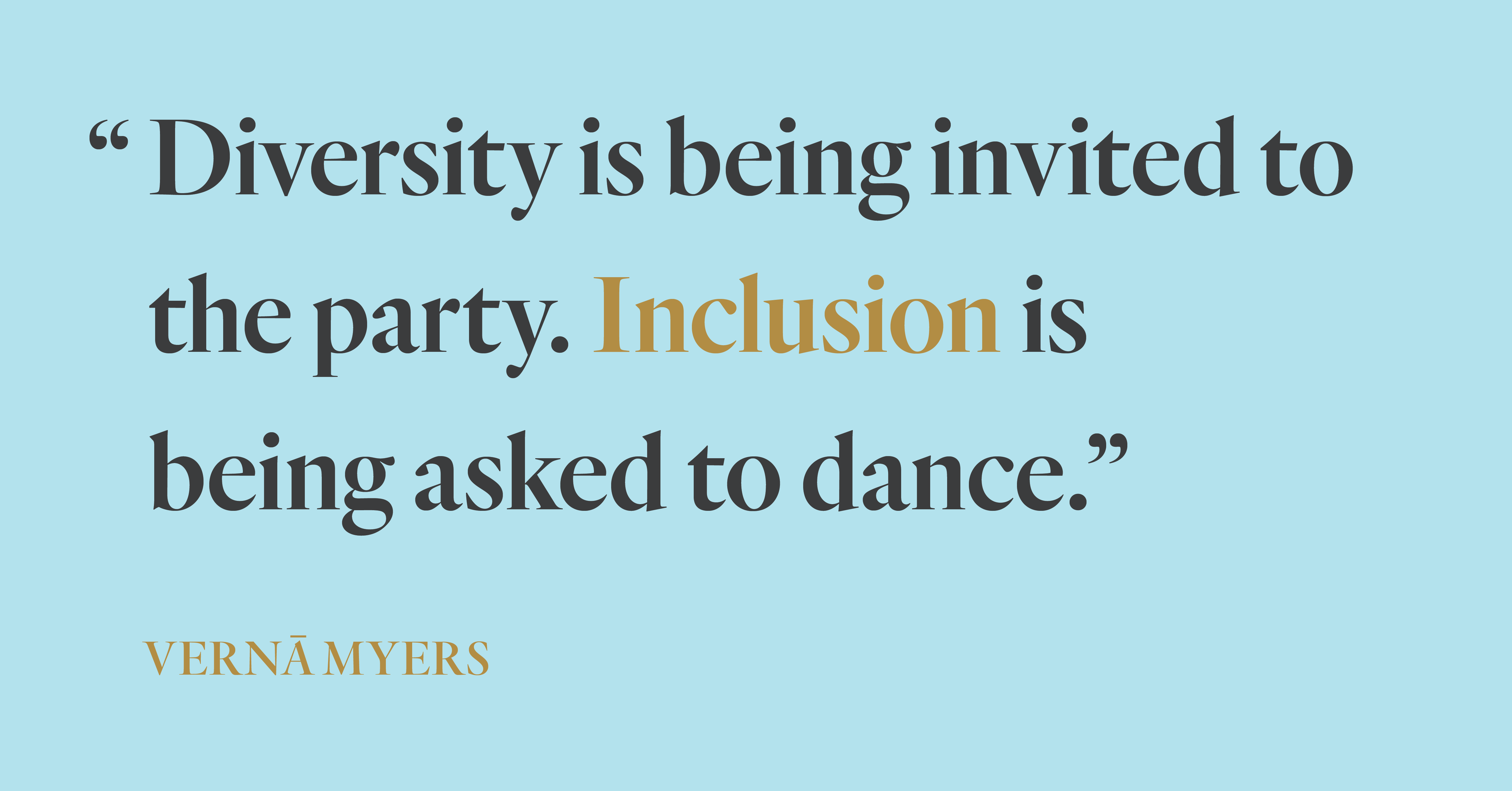 A powerful piece of wisdom from diversity and inclusion