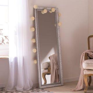 Miroir Rectangulaire Louise Blanc L 52 2 X H 152 2 Cm En 2020 Miroir Rectangulaire Miroir Gris Grand Miroir Chambre