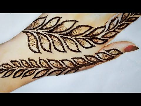 stylish henna design for back hand | very beautiful mehndi for begginers | henna art