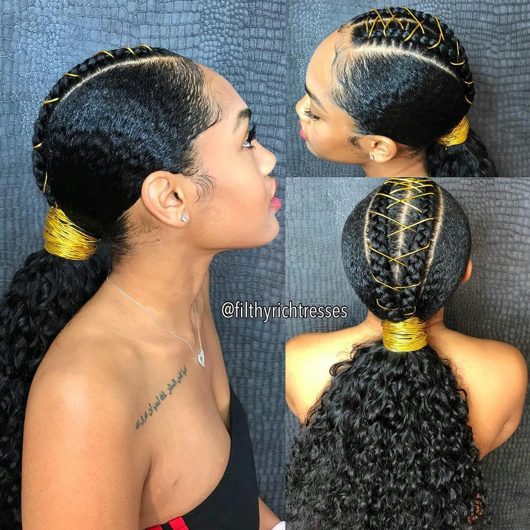 Pin By Yvette King On Hairstyles Natural Hair Styles Natural Hair Ponytail Outre Hair