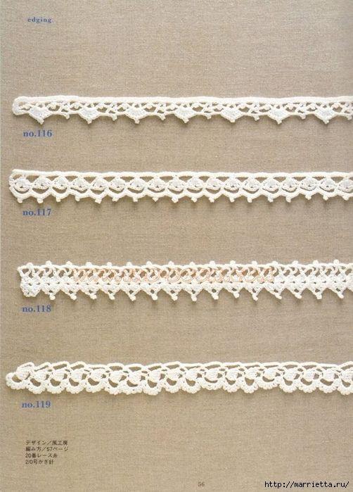 Вязание крючком. Много цветов, фрагментов и узоров со схемами (56) (502x700, 285Kb)