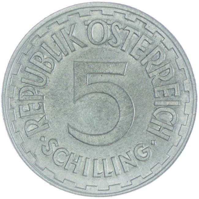 5 Schilling 1957 Osterreich