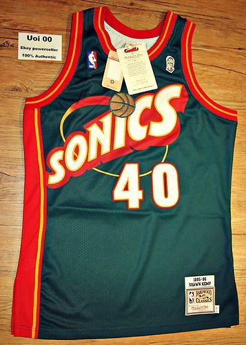 on sale ba406 e0731 Mitchell and Ness Authentic Throwback Sonics Kemp 40 Seattle ...