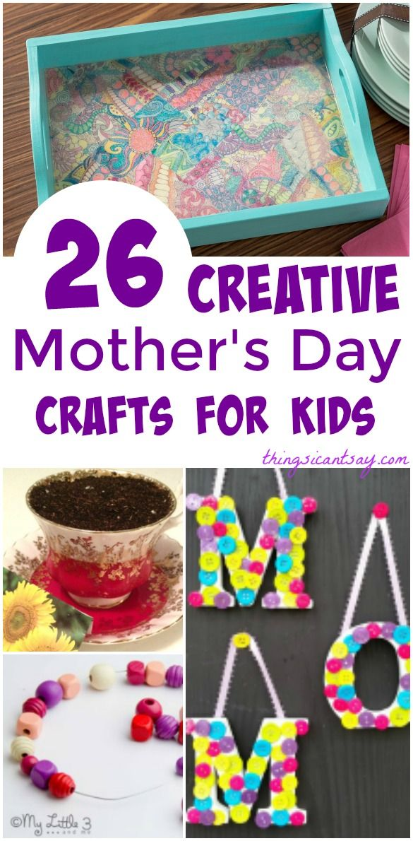 Homemade Mother's Day gifts. Mother's Day gift ideas kids