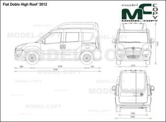Fiat doblo high roof 2012 blueprints ai cdr cdw dwg dxf eps fiat doblo high roof 2012 blueprints ai cdr cdw dwg malvernweather