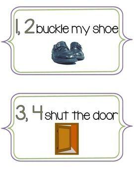 1 2 Buckle My Shoe Nursery Rhyme Signs Nursery Rhymes Nursery