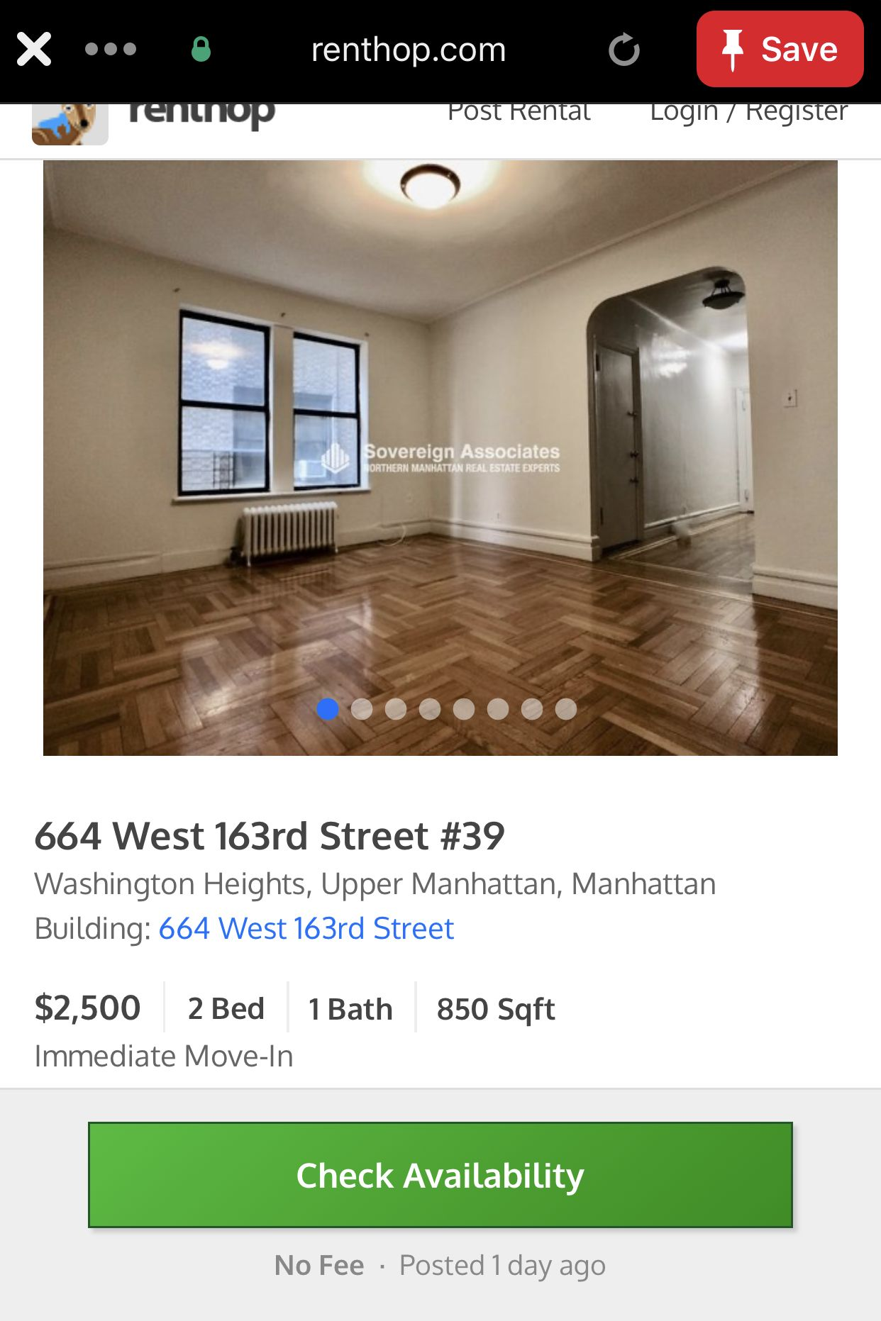 Washington Heights, NEW YORK apartment in 2020 Rent in