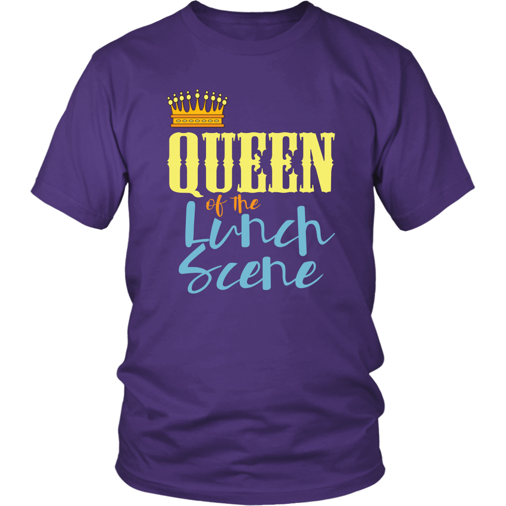 Lunch Lady Shirt Funny Queen of the Lunch Scene Tshirt ...