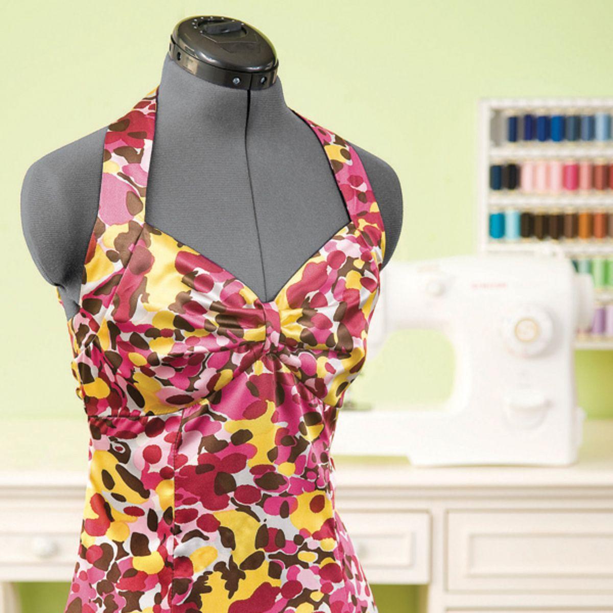 Women's Silk Halter Dress