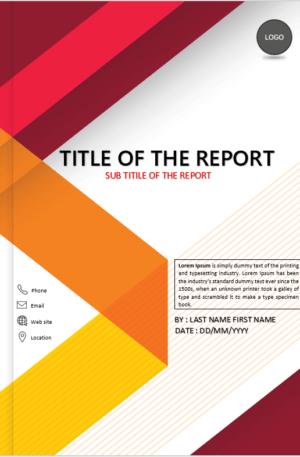 Red Headline Report Cover Page Design Template Sampul Laporan Desain Sampul Buku
