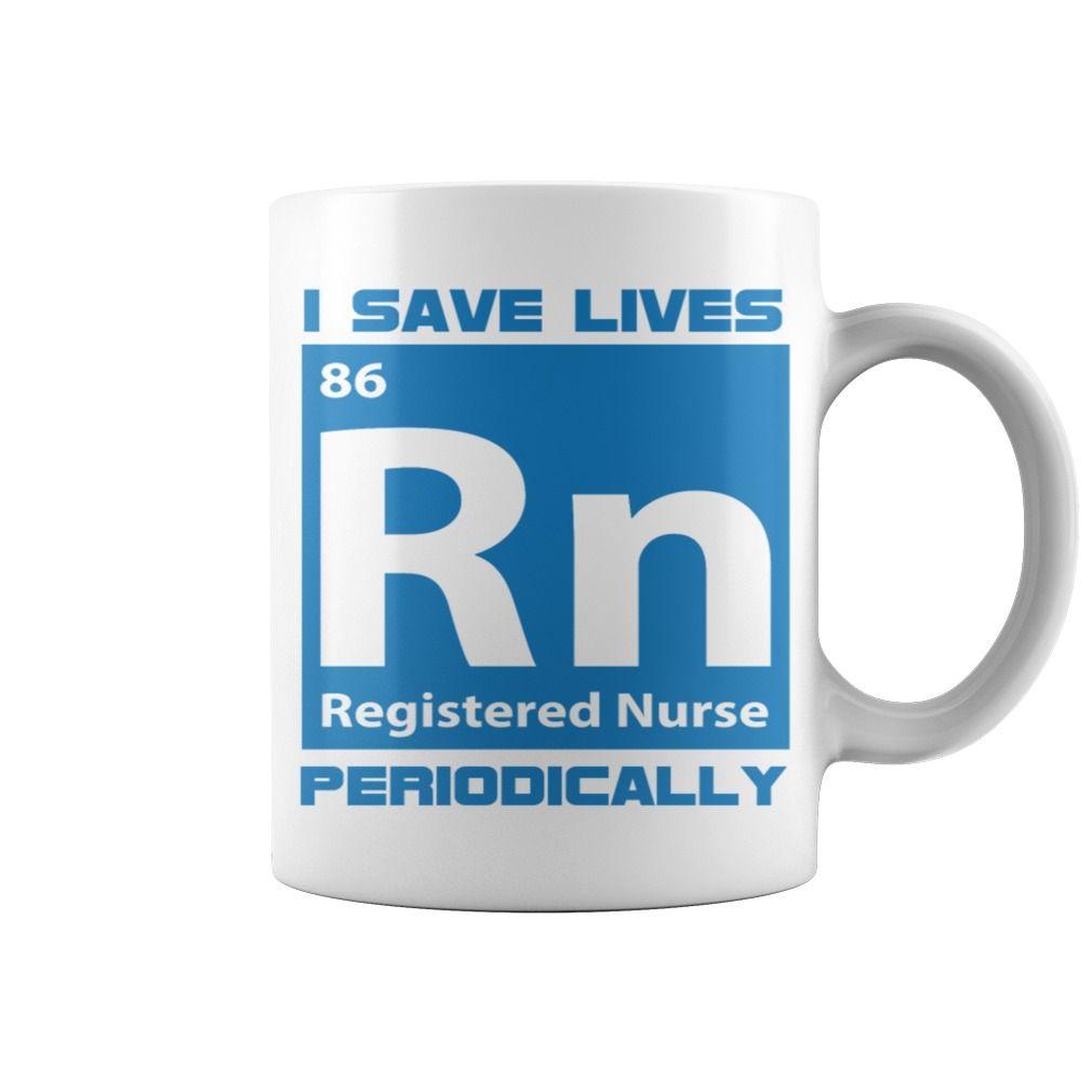 Nurse Periodic Table Rn Registered Nurse Mug Ducnv Test Cate Age