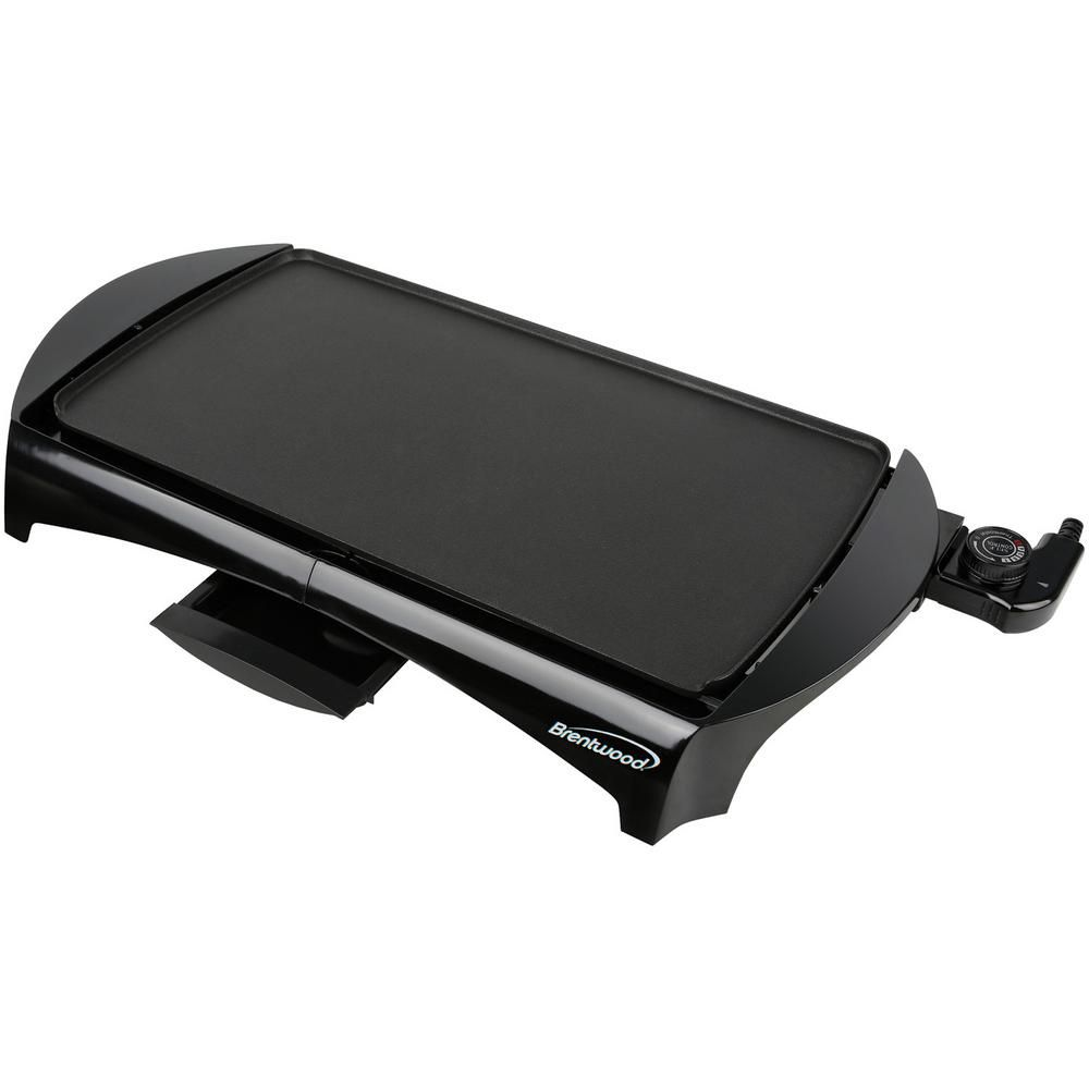Brentwood Appliances 200 Sq In Black Nonstick Electric Griddle