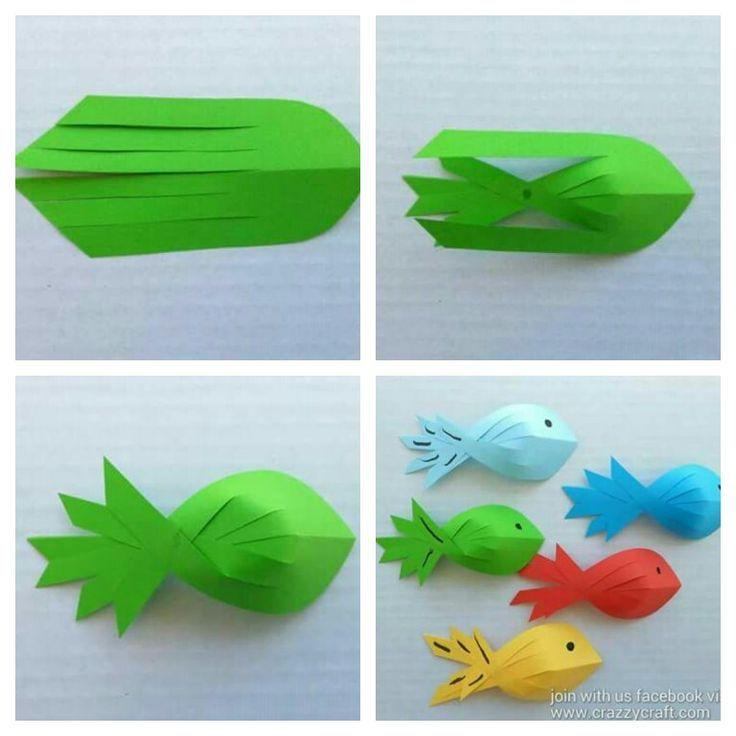 Photo of Papier Fisch Handwerk ,  #Fisch #Handwerk #Origami #Papier