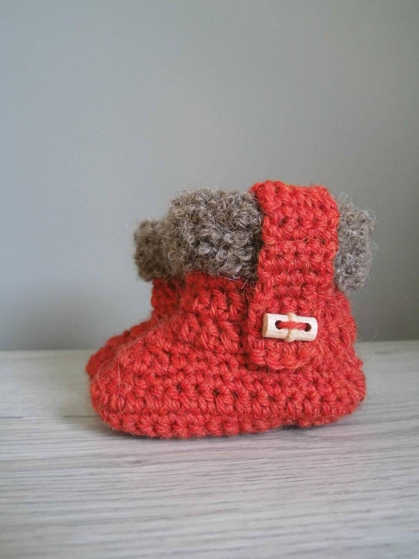 chaussons bébé au crochet de la boutique UneMailleEnLair sur Etsy ... ecbc9693fe84