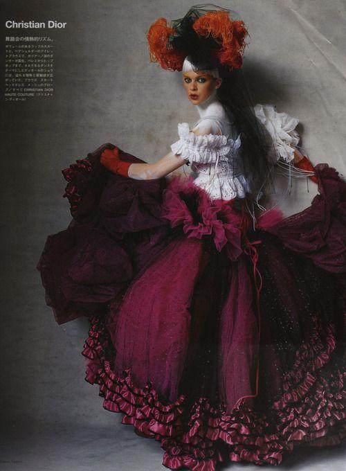 Elise Crombez - Irving Penn - Vogue US (October 2003)