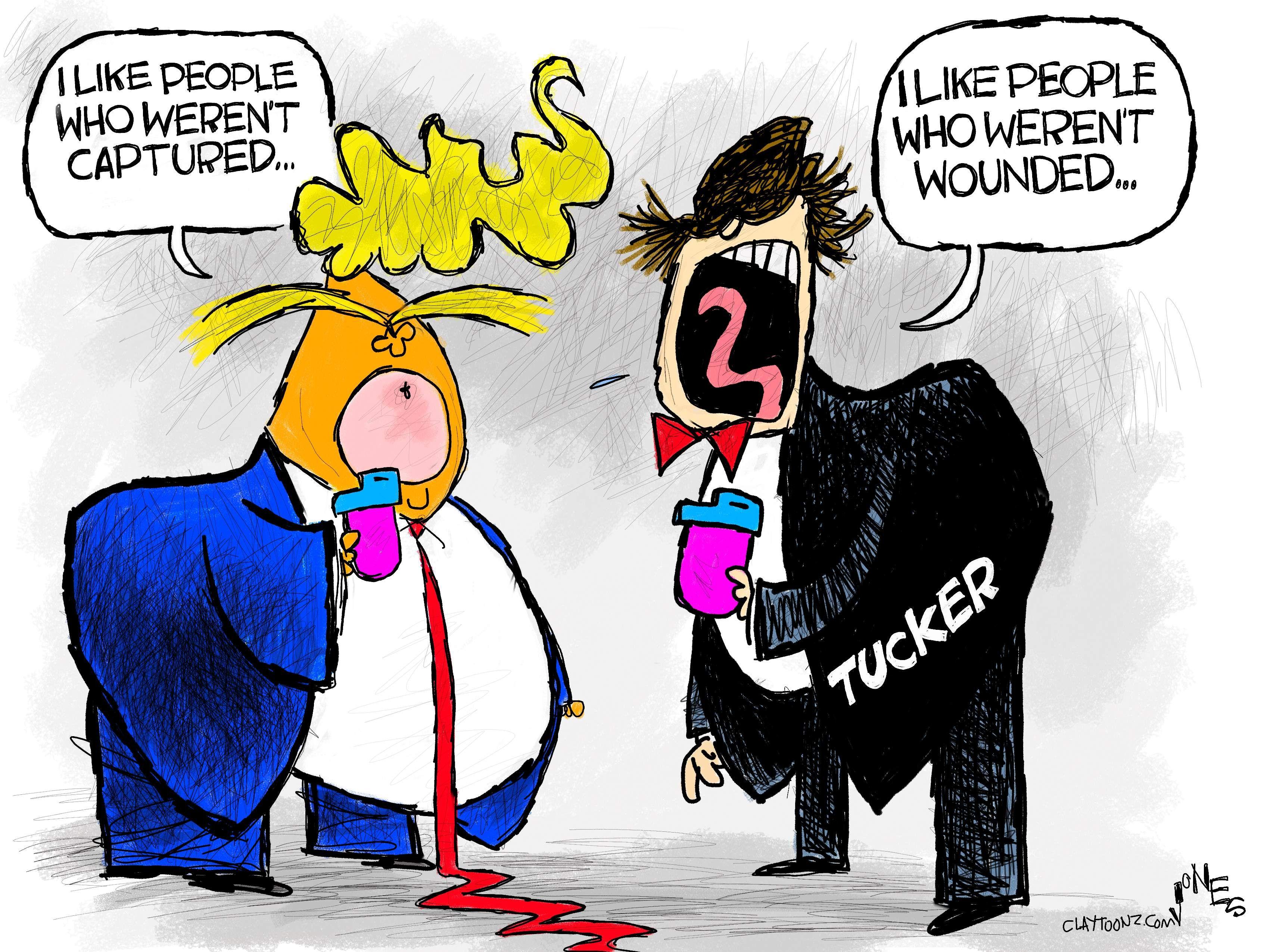 Tucker And Trump S Anti Troops Tantrums In 2020 Cartoon War Vet Troops
