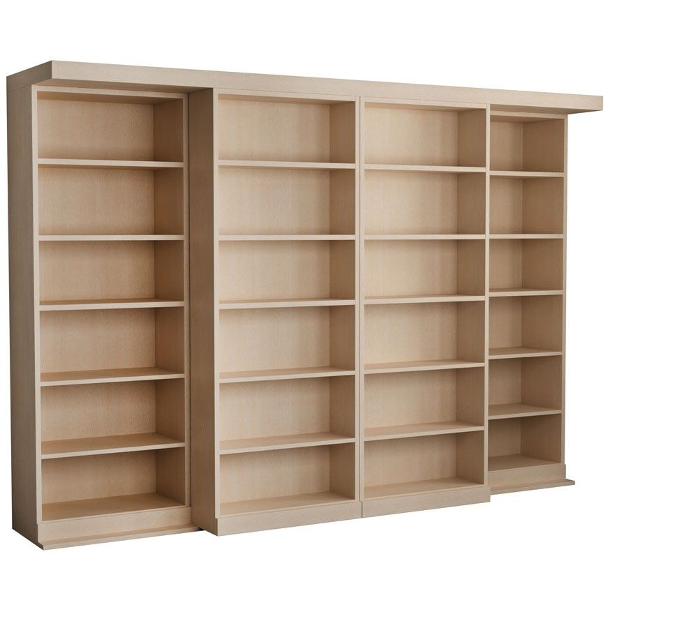 The Abbott Library Murphy Bed In Maple Unfinished Murphy Bed