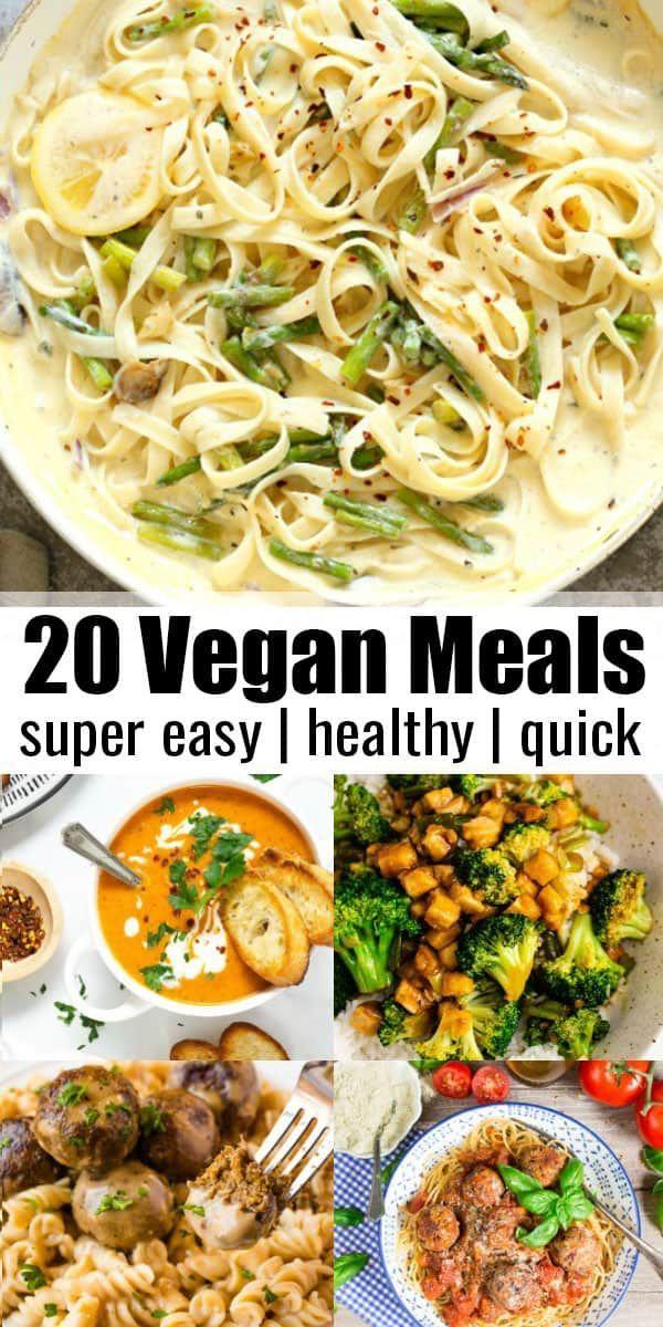 Wenn Sie nach einfachen veganen Gerichten suchen, sind Sie hier richtig! Wir haben g ... - New Ideas #easydinnerrecipes