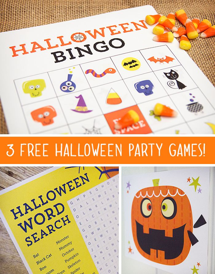 3 free printable halloween party games for kids - Game Ideas For Halloween Party