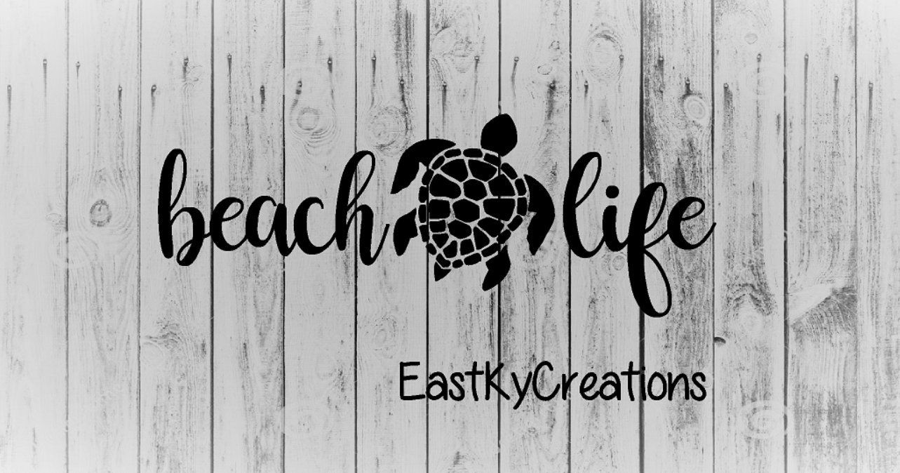 Beach Life~ Decal Vinyl Sticker Macbook Laptop Car Window MANY COLOR CHOICES!
