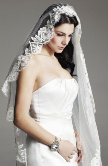 Wedding Bridal Fashion Mantilla Veil
