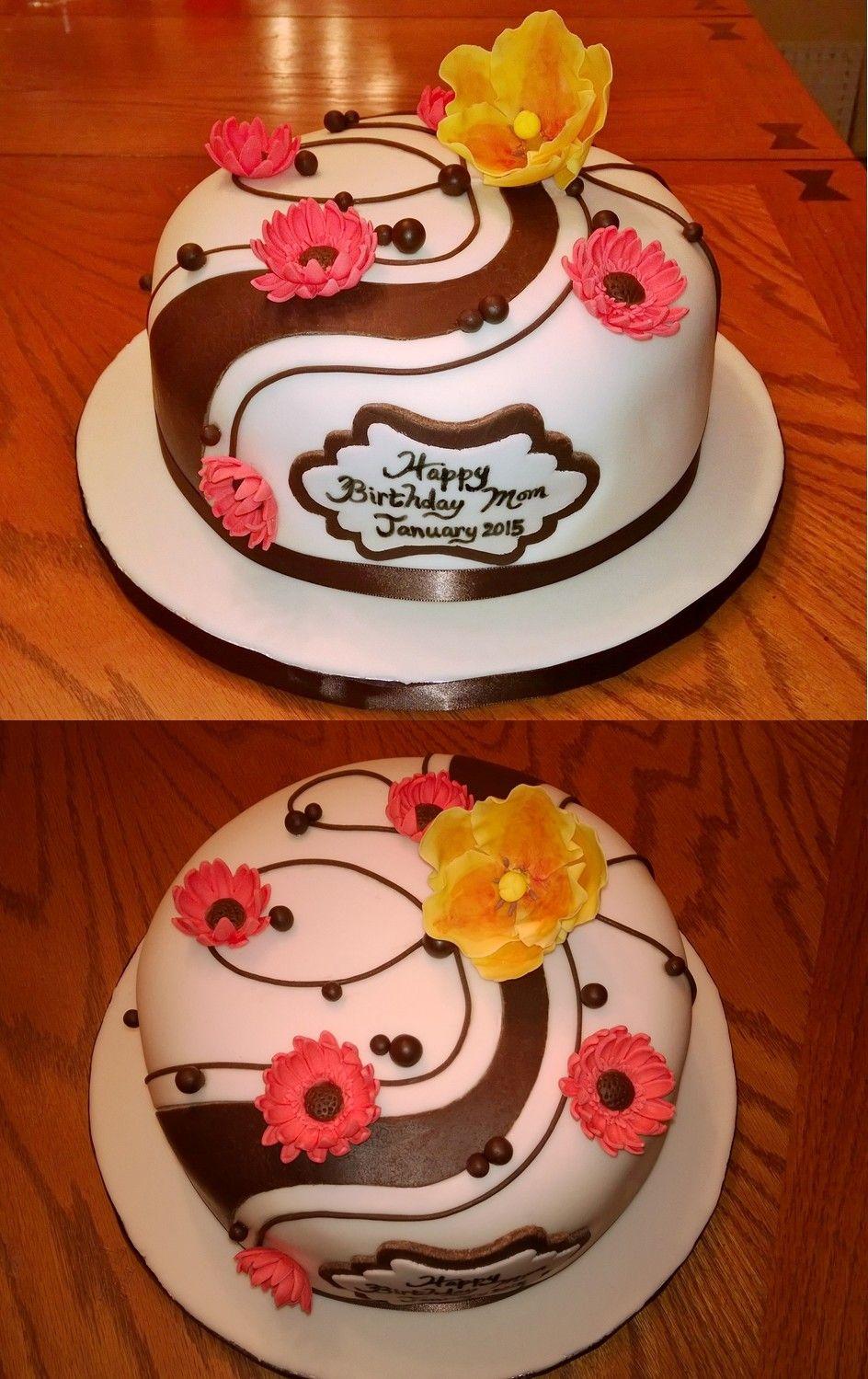 Elegant abstract cake design that my client found online