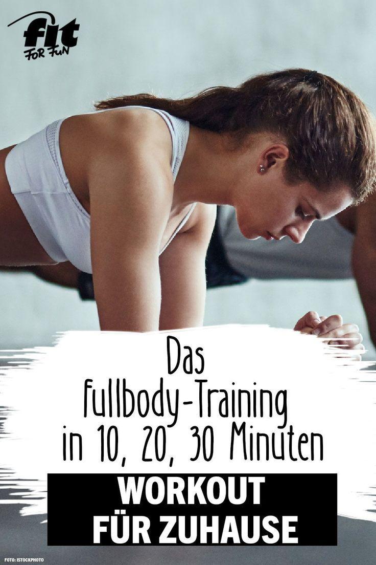 Workout zuhause: Trainingsplan für 10, 20 oder 30 Minuten
