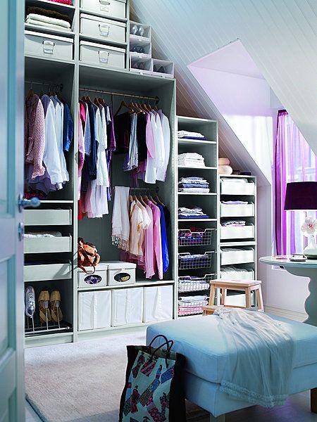 am nager un dressing en sous pente mode d 39 emploi pente du toit ik a et du toit. Black Bedroom Furniture Sets. Home Design Ideas
