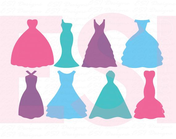 Wedding dress svg, Dress svg, Bride svg, Bridesmaid svg, SVG