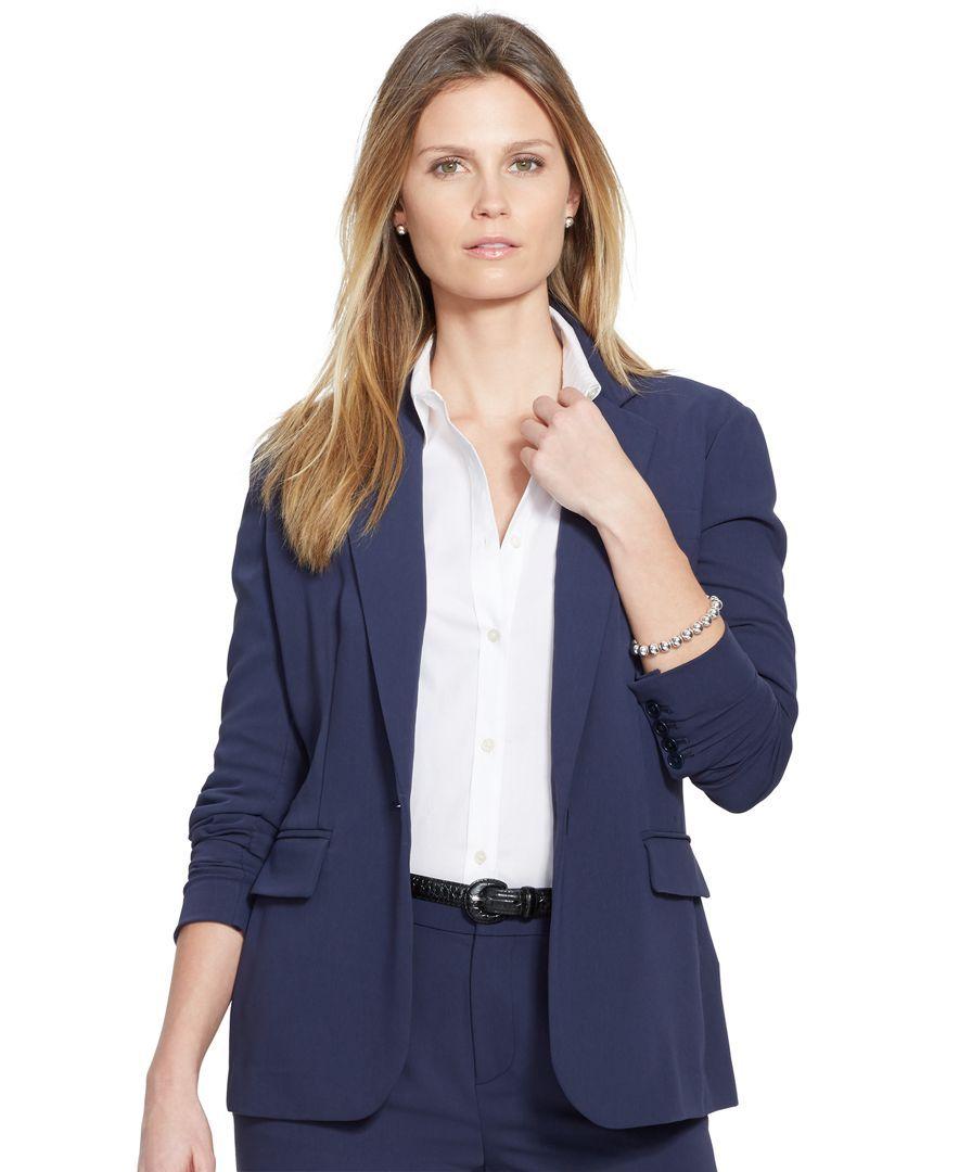 Lauren Ralph Lauren Single-Button Blazer