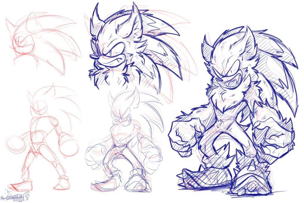 Werehog Sketch By Mimy92sonadow Sonic Art Hedgehog Art Sonic Fan Art
