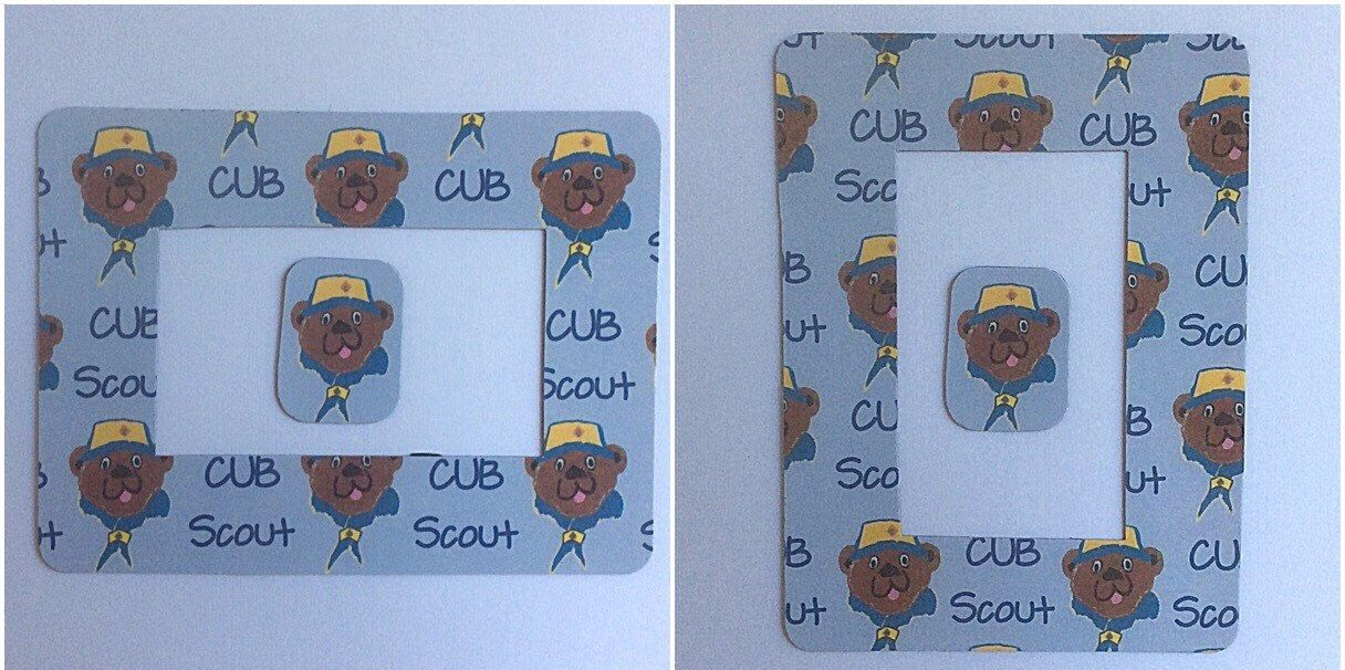 Cub Scouts Photo Frame, Boy Scouts Refrigerator Magnet Frame, 2\