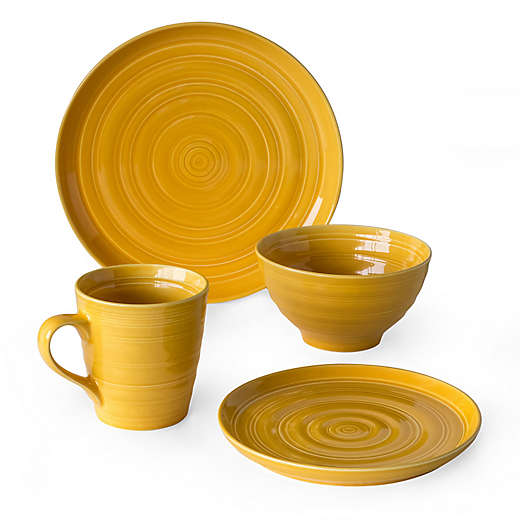 Dinnerware Sets Bed Bath Beyond Dinnerware Sets Dinnerware Yellow Dinnerware